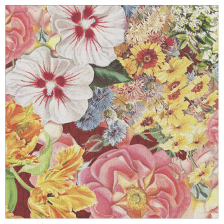 Flower Festival Mirrored Grande Fabric