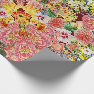 Flower Festival Mirrors Wrapping Paper