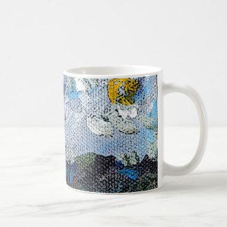 Flower Field and Blue Sky Coffee Mug