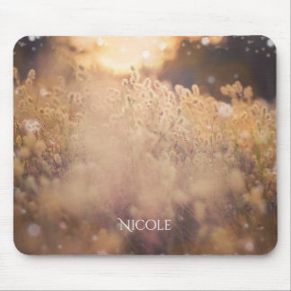 Flower Field Rustic Country Sunset Dusk Mouse Pad