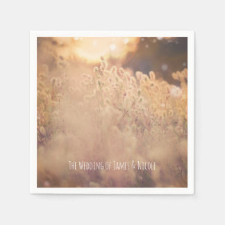 Flower Field Rustic Country Wedding Reception Disposable Napkins