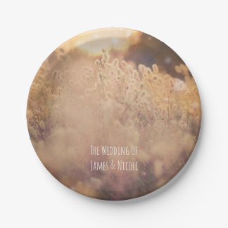 Flower Field Rustic Country Wedding Reception Paper Plate
