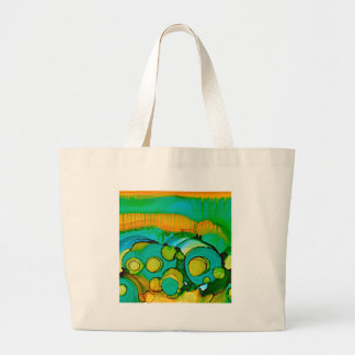 flower fields large tote bag