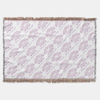 Flower Floral Abstract Concept Icon Throw Blanket