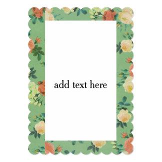 flower Floral Theme Invitation Card