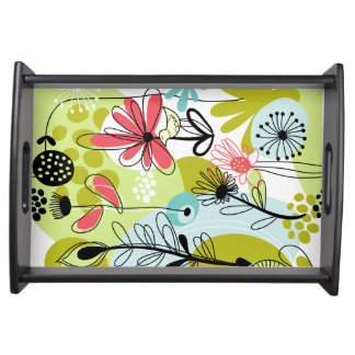 Flower Forest Serving Tray