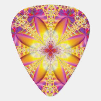 Flower Fractal Guitar Pick