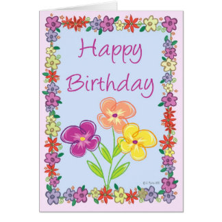 Flower Frame Birthday Card