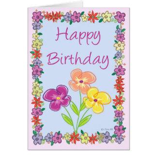 Flower Frame Birthday Card