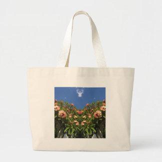 Flower Frangipani Print Large Tote Bag