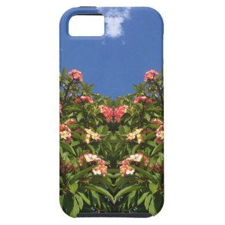 Flower Frangipani Print Tough iPhone 5 Case