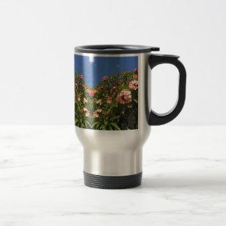 Flower Frangipani Print Travel Mug