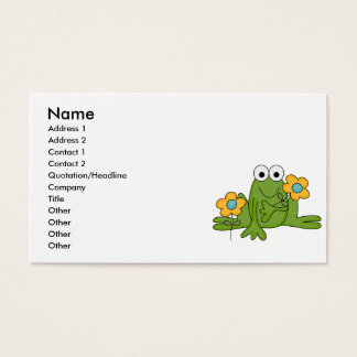 flower froggy frog business card
