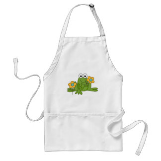 flower froggy frog standard apron