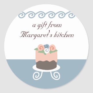 Flower frosted decorated cake baking gift stickers