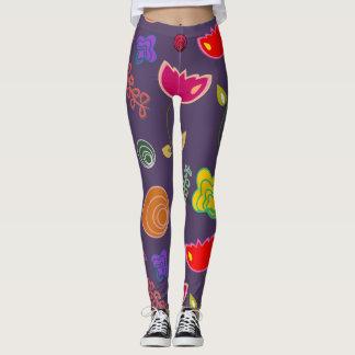 flower fruit leggings