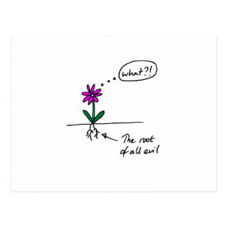 Flower funny post card