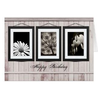 Flower gallery card (customise photos or text)