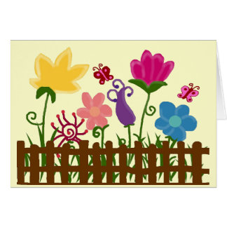 Flower garden blank card