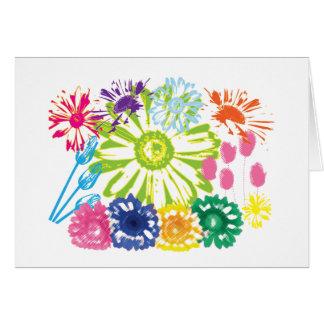 Flower Garden Blank Greeting Card