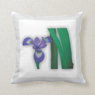 Flower Garden - Blue Flag Iris Pillow