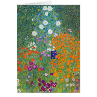 Flower Garden by Gustav Klimt Card