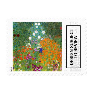Flower Garden by Gustav Klimt Floral Postage Stamp