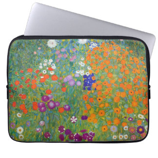 Flower Garden by Gustav Klimt Laptop Sleeve