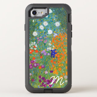 Flower Garden by Gustav Klimt Monogram OtterBox Defender iPhone 8/7 Case