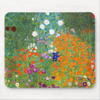 Flower Garden by Gustav Klimt Vintage Floral Mousepad