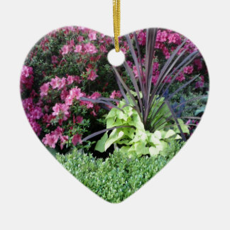 Flower Garden Ceramic Heart Decoration