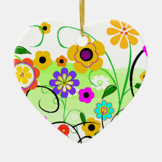 Flower Garden Ceramic Ornament