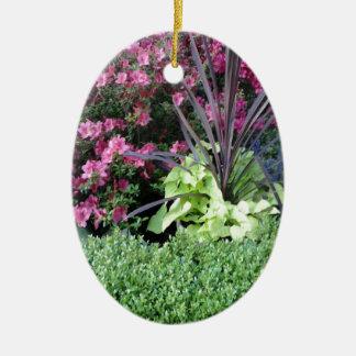 Flower Garden Ceramic Oval Decoration