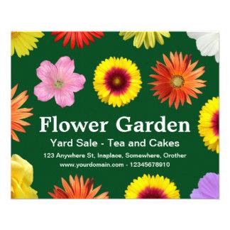 Flower Garden - Dark Green 02481c 11.5 Cm X 14 Cm Flyer