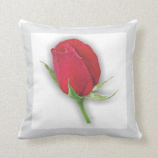 Flower Garden - Dark Red Rose Pillow