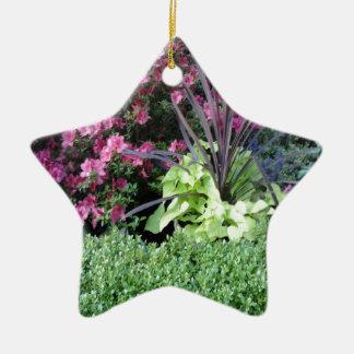 Flower Garden Ceramic Star Decoration