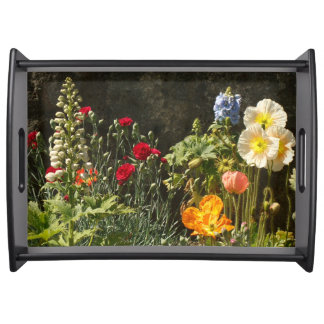 Flower Garden Floral Photography Serving Tray