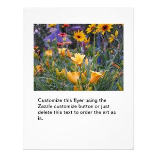 Flower garden fun colourful pretty gardening photo 21.5 cm x 28 cm flyer