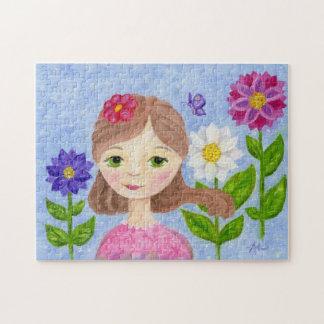 Flower Garden Girl jigsaw puzzle