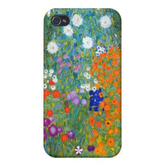 Flower Garden, Gustav Klimt iPhone 4 Covers