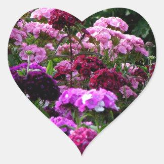 Flower Garden in summer Heart Sticker