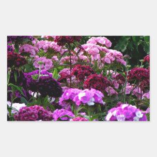 Flower Garden in summer Rectangular Sticker
