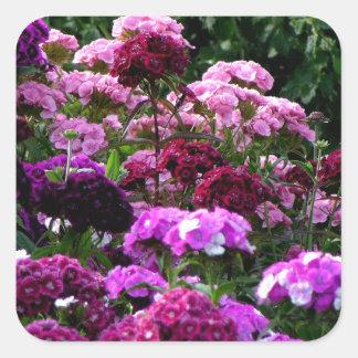 Flower Garden in summer Square Sticker