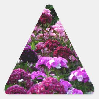 Flower Garden in summer Triangle Sticker