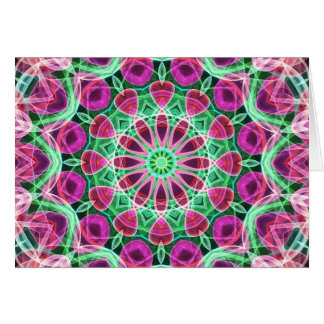 Flower Garden kaleidoscope Card
