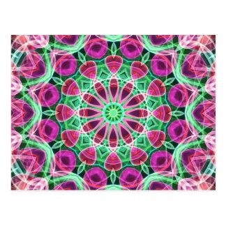 Flower Garden kaleidoscope Postcard