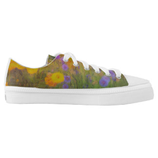 Flower Garden Low Tops Printed Shoes
