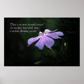 Flower Garden Motivational Art Print