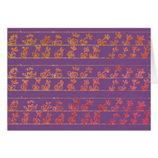 Flower Garden Notes blank notecards purple