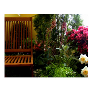 """Flower Garden Seat"" Cards Postcard"